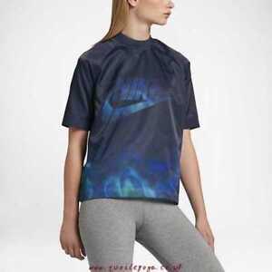 Nike-Femmes-Aurore-Borealis-Tie-And-Dye-Course-Entrainement-Chemise-XL-Save-40