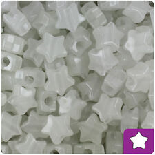 250 Glow In The Dark 13mm Star Pony Beads Plastic Made in the USA