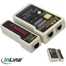 InLine 79998 BNC Kabeltester Netzwerk Test Digital Tester CAT Kabel RJ45 RJ11
