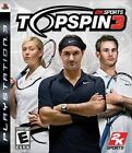 Top Spin 3 Sony PlayStation 3 Ps3 3 Tennis Game