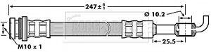 BORG-amp-BECK-Flexible-de-freins-BBH7128-Brand-new-genuine-Garantie-5-an
