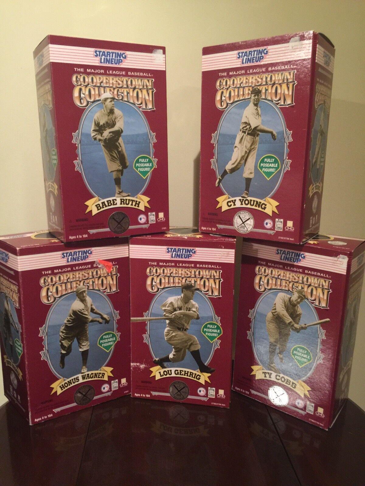 1996 a partir Lineup Cooperstown collection all 5 Figuras En Caja Nunca Usado