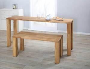 esszimmerbank sitzbank eiche ge lt massivholz massiv tisch echtholz essbank ebay. Black Bedroom Furniture Sets. Home Design Ideas