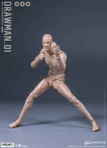 DAMTOYS 1//12 DPS01 Male Flexible Body Painting Drawing Figure Model W// Head