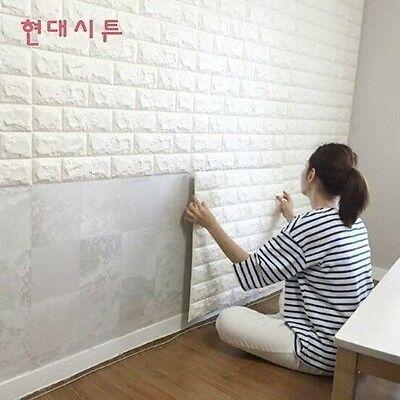 3D Foam Stone Brick Self-adhesive Wallpaper Wall Sticker Panels Decal DIY Lots