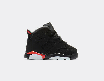premium selection d20e7 a490c Nike Air Jordan Retro VI 6 Black Infrared Red 6s Toddler Infant Size  384667-060 | eBay