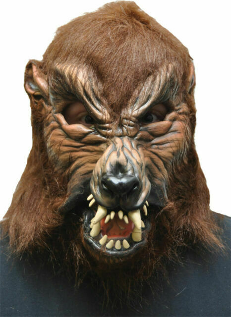 fnt Adult Zagone Howl-O-Ween Werewolf Full Latex Mask with Moving Mouth SALE