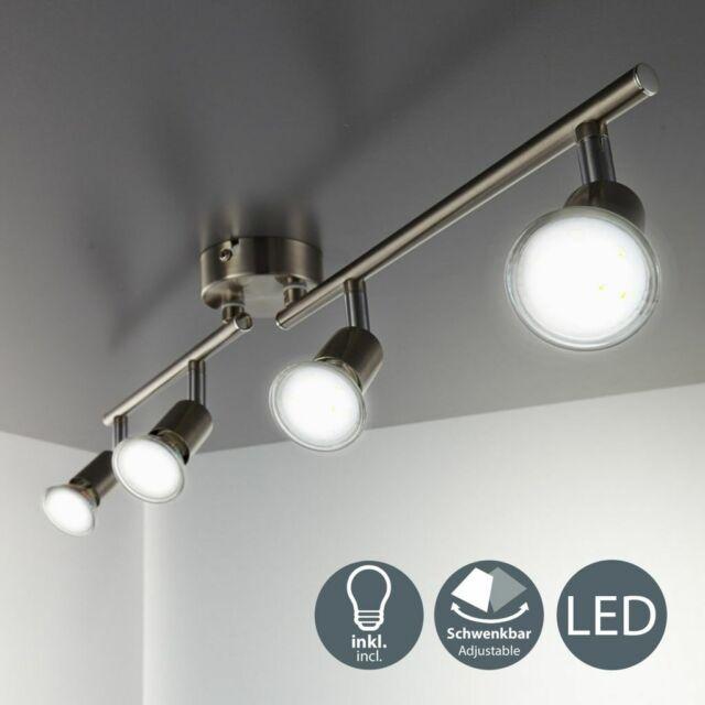 Plafonnier LED 4 spots GU10 spots plafond salle à manger métal spots orientables