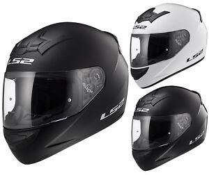 LS2-FF352-Casque-Integral-de-Moto-Blanc-Noir-Mat-Uni-Rookie