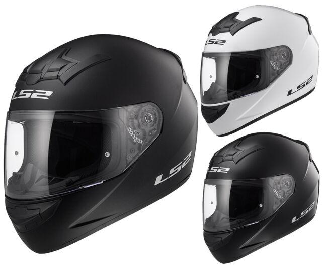 LS2 FF352 Casque Intégral de Moto Blanc, Noir Mat Uni Rookie
