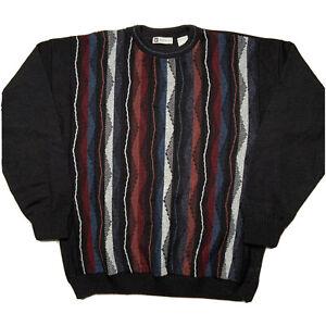 Vintage-Bachrach-Herren-Groesse-XL-COOGI-Like-Sweater-Hip-Hop-Biggie-3d-Design
