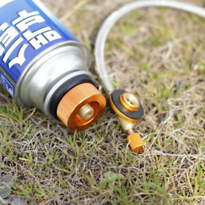 Camping Stove Butane Gas Metal Adapter Convert Fuel Canister  G1HG