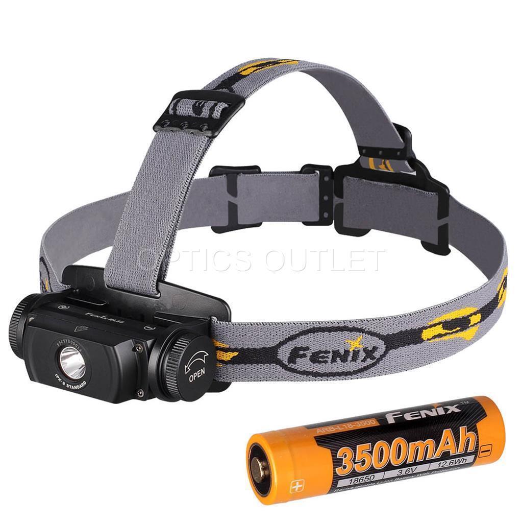 Fenix HL55 900 Lumens Compact Headlamp w  Fenix 3500mAh 18650