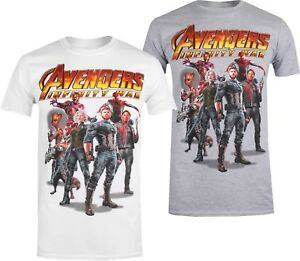 7642e228 Marvel Avengers Infinity War Group - Men's T-Shirt - White or Grey ...