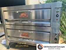 Used Montague Gas Double Deck Pizza Ovens 25p 2