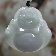 Certified Natural (Grade A) Untreated Lavender Jadeite JADE Big Buddha Pendant