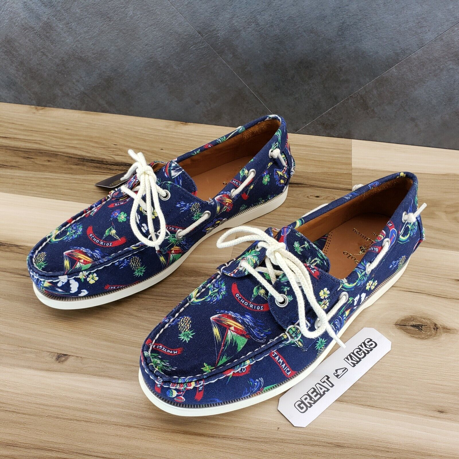 Polo Ralph Lauren Merton Tropical Men's Boat Shoes - Size 9, 9.5, 10, 11, 12