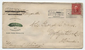 1904-Heinz-Pickles-cover-used-from-Bangor-ME-301-y2183