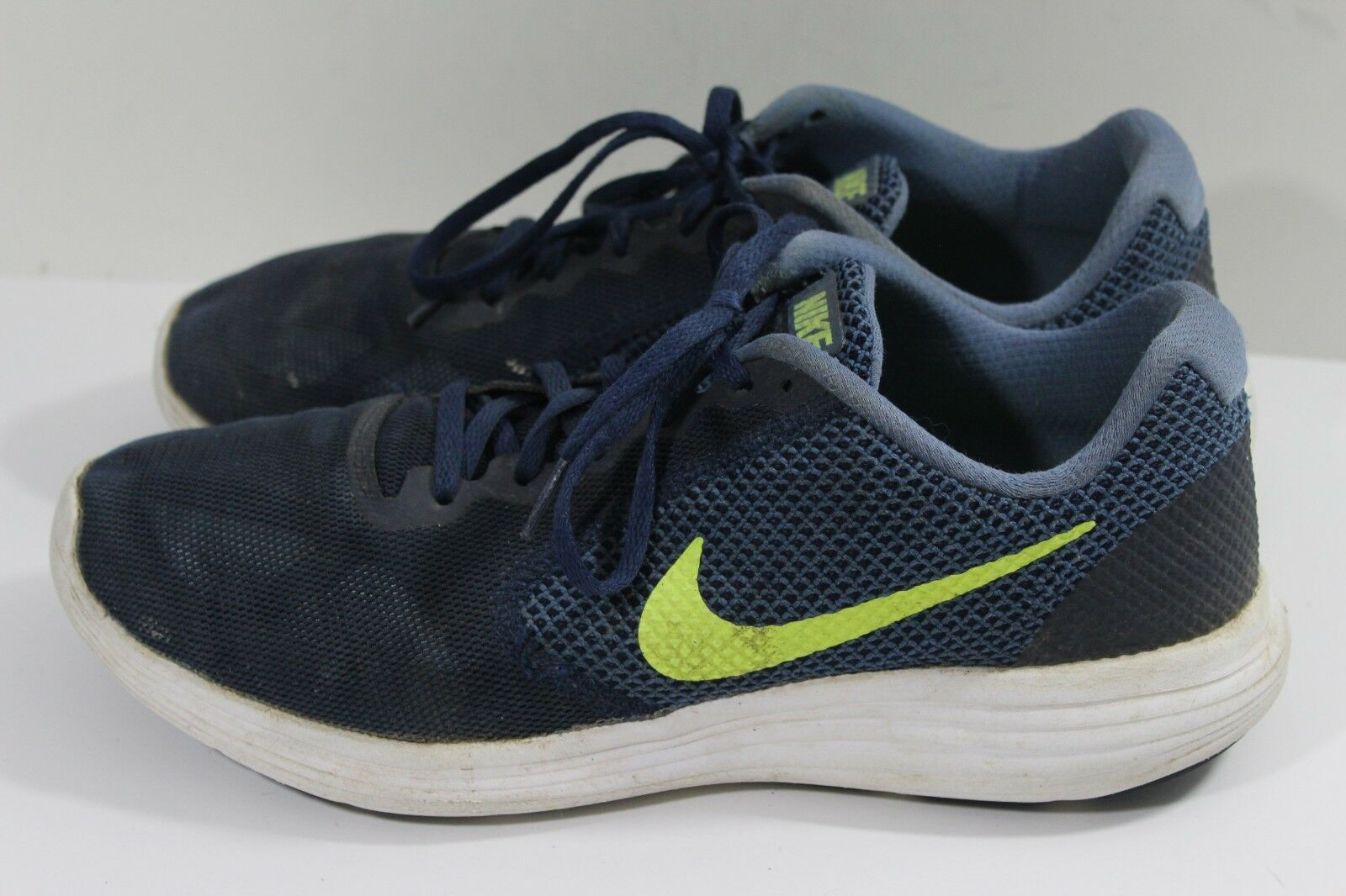 Mens Blue And Lime Green Nike Revolution 3 Tennis Shoes, Comfortable  New shoes for men and women, limited time discount