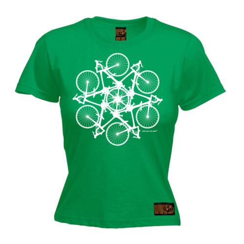 Femmes Cyclisme Vélo Cercle Kaléidoscope drôle birthdayátee T Shirt T-Shirt