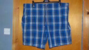 """Part Elastic Waist Checked Swim Board Shorts Xxxl W45-47"""" Navy Bnwt Eleganter Auftritt Kleidung & Accessoires Ehrlich M&s Upf50"""