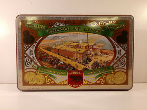 SCATOLA-IN-LATTA-CHOCOLAT-LINDT-PRODUCTION-SPECIAL-VINTAGE-Pagani-Lecco-Italy