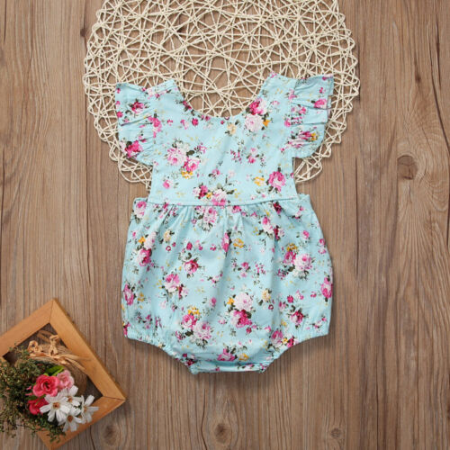 Hot Newborn Infant Baby Girls Romper Bodysuit Jumpsuit Sunsuit Clothes Outfits