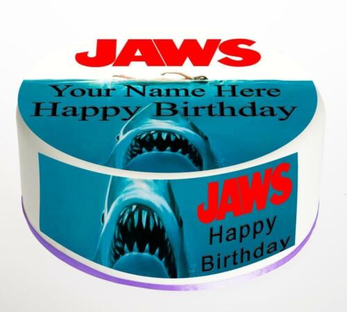 Jaws Cake Topper; Rice Paper,Icing Personalised decoration.846