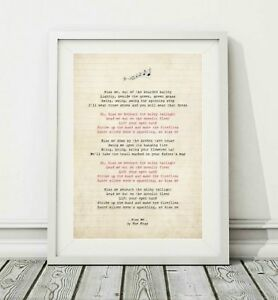 291-The-Fray-Kiss-Me-Song-Lyric-Art-Poster-Print-Sizes-A4-A3