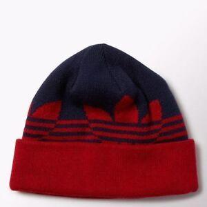 Adidas Originals Beanie Switch Stripe Fold Knit Ski Hat Unisex Navy ... 1f979b92f97