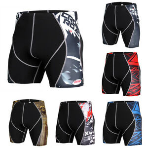 Men-039-s-Compression-Shorts-Running-Gym-Training-Boxers-Dri-fit-Tight-fit-Printed