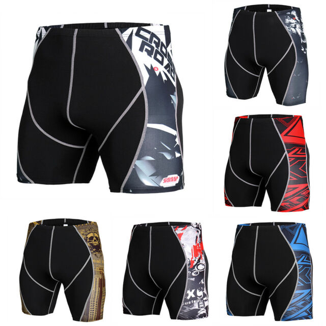 Men's Compression Shorts Running Jogging Moisture Wicking Boxers Tight fit Black