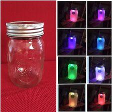 Solar Mason Jar LED Lid Light Regular Mouth Color Changing • Lid Lights Only