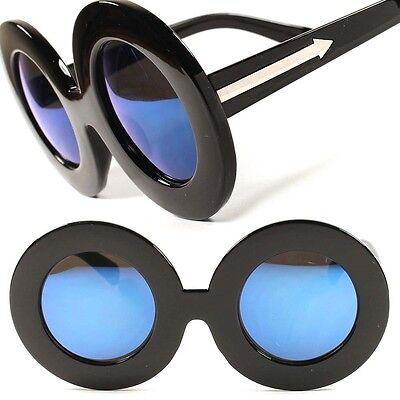 Fashion Designer Vintage Retro Steampunk Oversized Round Womens Sunglasses C3E