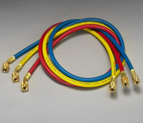 "Yellow Jacket 21985 PLUS II™ 60/"" Charging Hose 3-Pack RYB Standard 1//4/"""