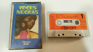 VOCES-NEGRAS-ROSETTA-THARPE-1972-CINTA-TAPE-CASSETTE-SPANISH-EDIT-PAPER-LABELS