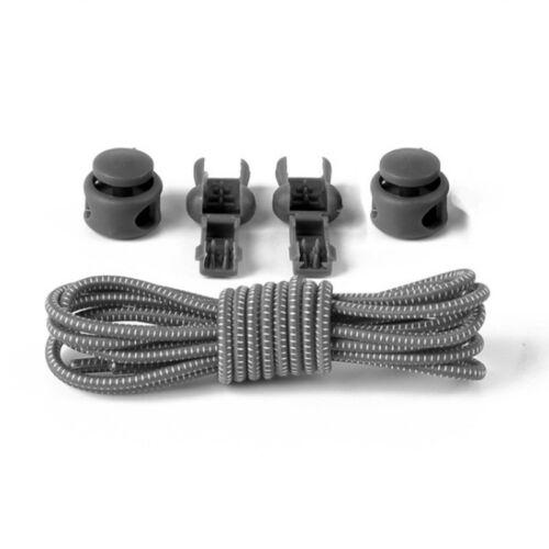 1Pair No Tie Elastic Lock Lace Lock Sports Shoelaces Runner Trainer Shoe Laces