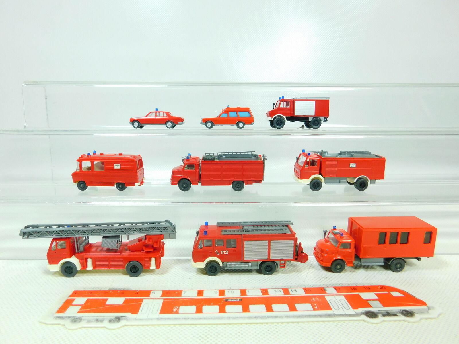 BT355-0,5 x Wiking H0     1 87 Model MB Fire Brigade   Fw  Unimog etc. ,VG Mint 22496f