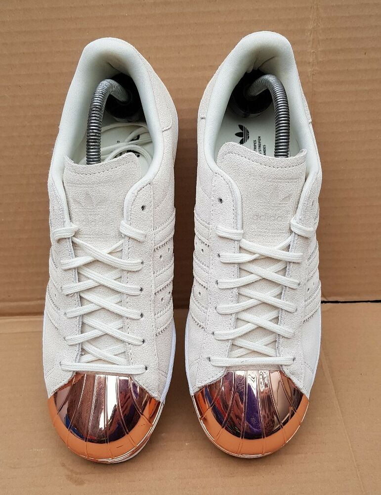 Daim Toe 80 Gold Adidas Beige Baskets années En Metal Rose Superstar x0RqPwUp