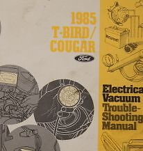 1985 FORD THUNDERBIRD & COUGAR Electrical Wiring Diagram ...