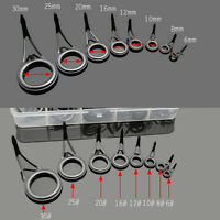75x Heavy Duty 8 Sizes Fishing Rod Guides Kit Part Rod Building Repair Making Re