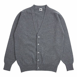 Community-Clothing-Men-039-s-Grey-Wool-Cardigan