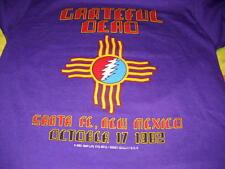 GRATEFUL DEAD SANTA FE NEW MEXICO OCT.17,1982 LIGHTNING BOLT CONCERT T-SHIRT-M