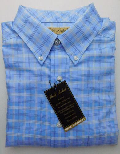 2XT NWT Gold Label Roundtree /& York Blue Yellow Check Men Shirt Big Tall LT
