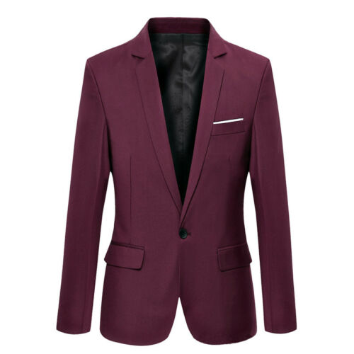 New Men/'s Casual Slim Formal One Stylish Button Suit Blazer Coat Jacket Tops