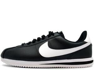 New 819719 Shoes white 012 Men Cortez Black Leather Nike qrnw7gqv