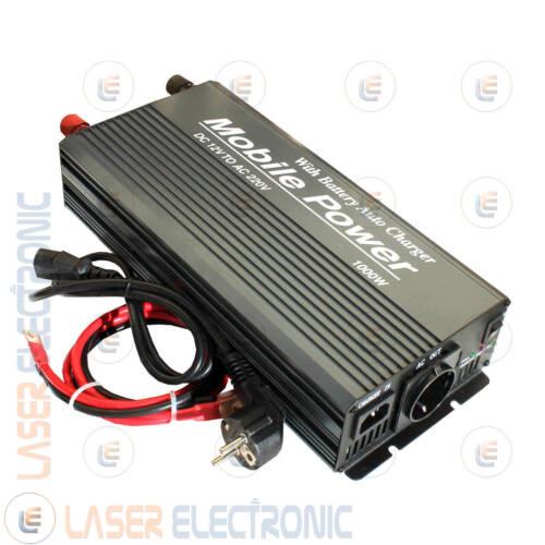 Inverter Onda Modificata Kingson 1000W 12V /> 230V con Caricabatteria Integrato