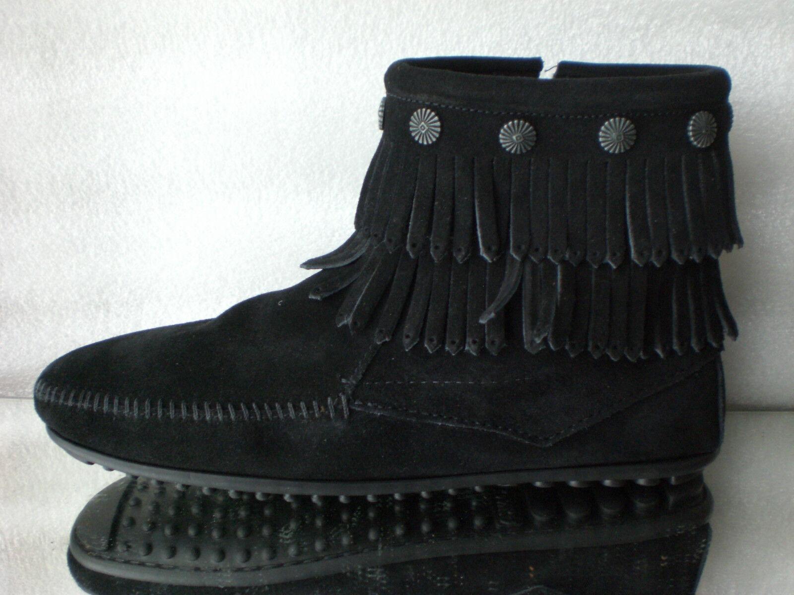 Minnetonka Moccasins aventón tan señora botas FORRADA BORREGO de gamuza oroen tan aventón nuevo e8b068