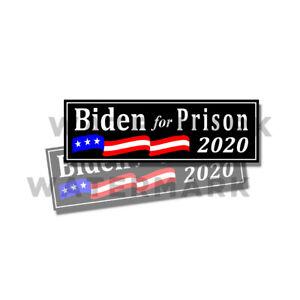 Biden-fuer-Gefaengnis-2020-Anti-Joe-Biden-Trump-Sticker-2-Pack-9-034-x3-034-D-amp-schwarz