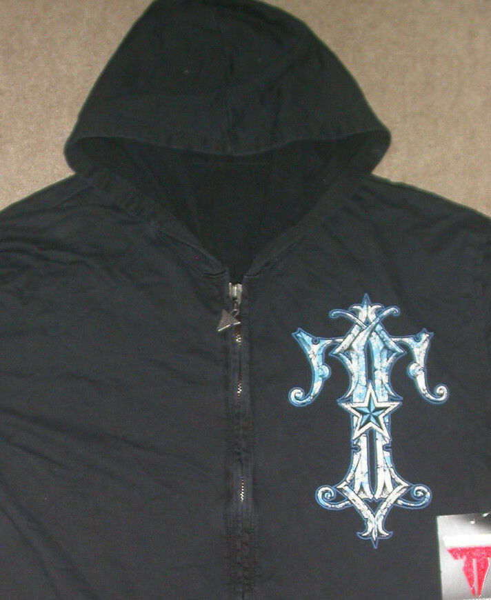 THROWDOWN by affliction ZIP UP HOODED SWEATSHIRT MEDIUM M . UFC MMA BJJ GYM NEW